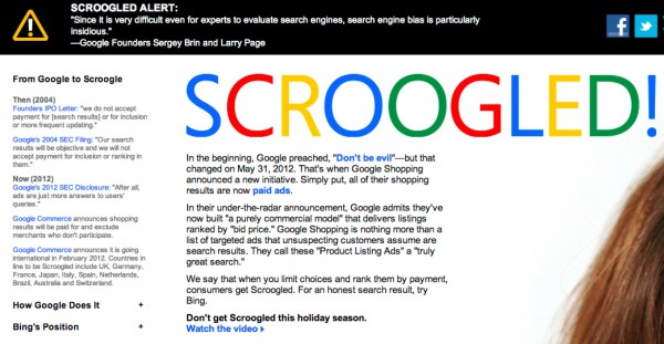 Have you been Scroogled Try Bing