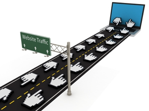 Traffic to the website